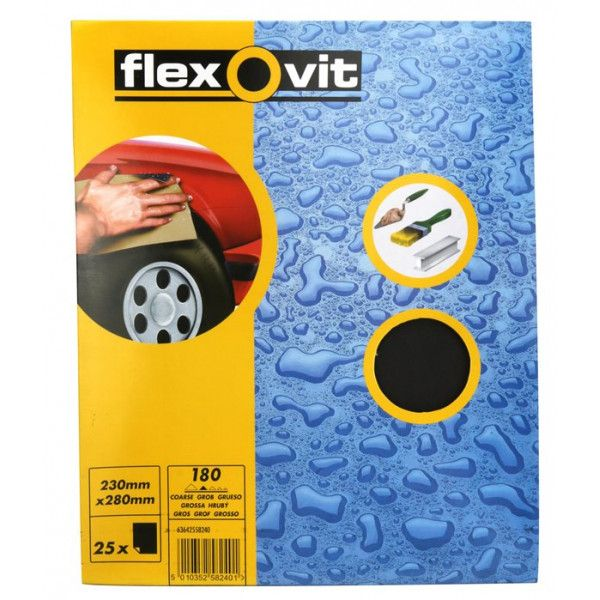 Wet Dry Paper P180 Pack Of 25