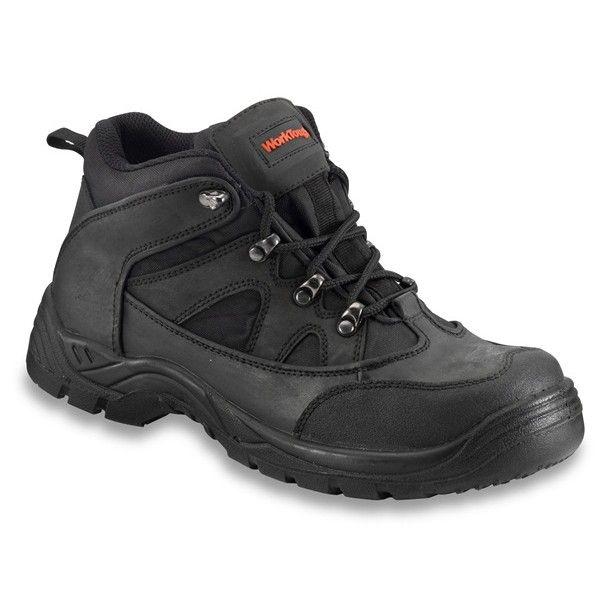 Safety Midcut Hiker Boots Black Uk 10