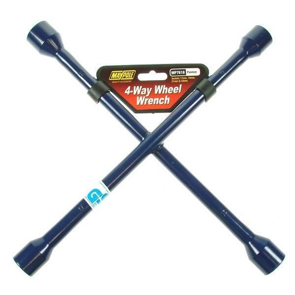 4 Way Wheel Wrench Blue