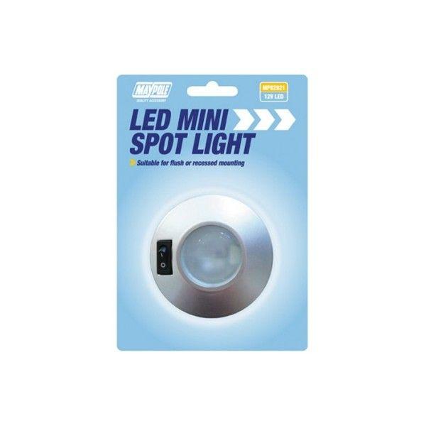 12V Led Mini Spot Light Silver