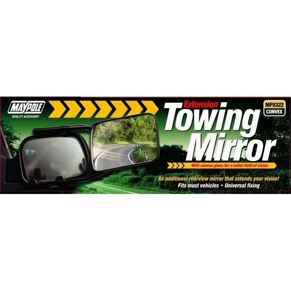 Towing Extension Mirror Convex Glass