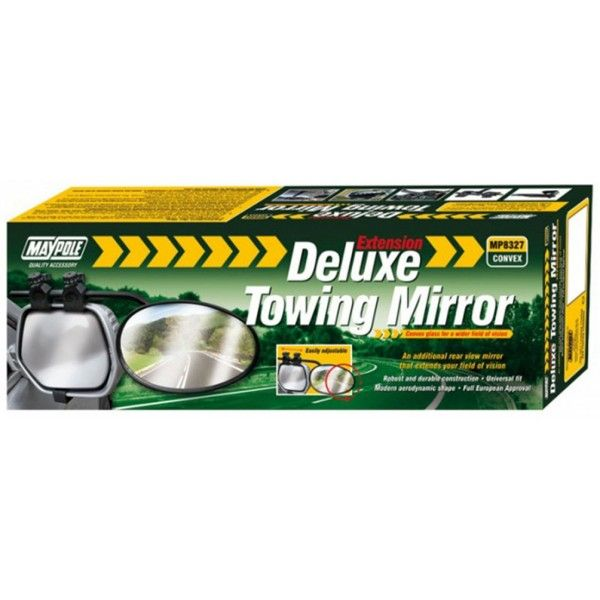 Towing Extension Mirror Deluxe Convex Glass