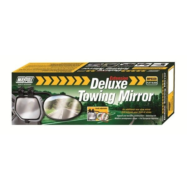 Towing Extension Mirror Deluxe Flat Glass