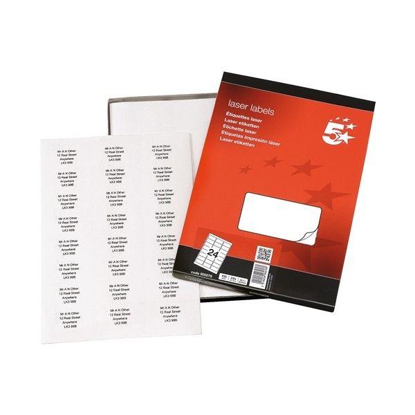 Laser Address Labels 63 X 34Mm Pack Of 2400