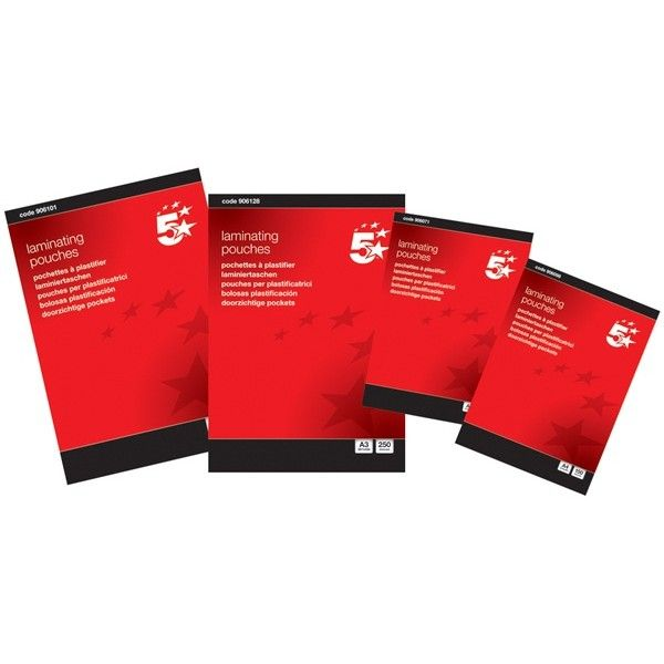 A4 Gloss Laminating Pouches Pack Of 100