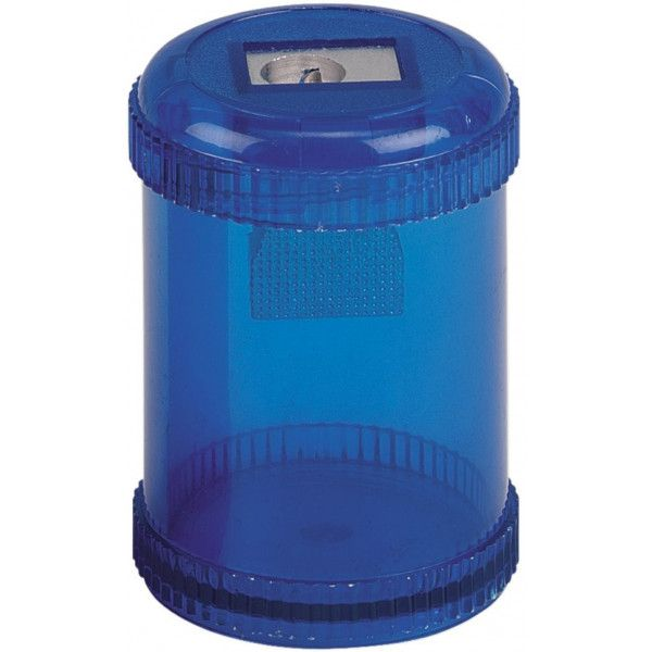 Plastic Canister Pencil Sharpener Blue