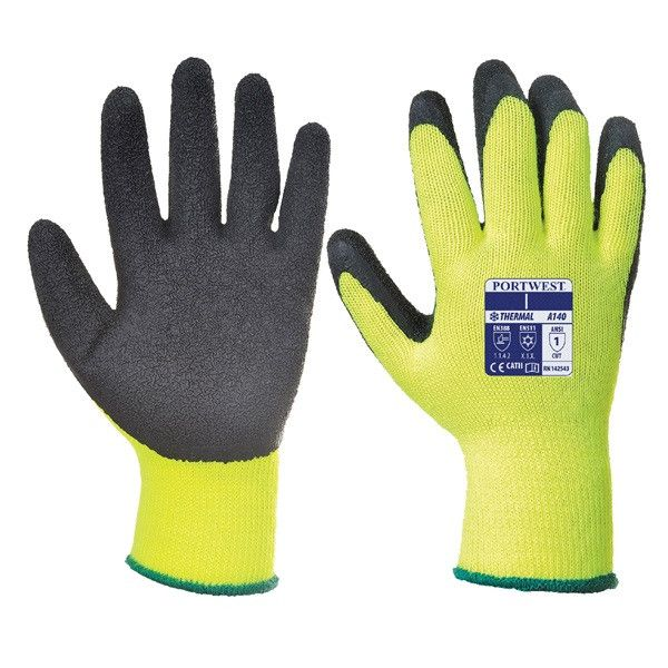 Thermal Grip Glove Black Medium