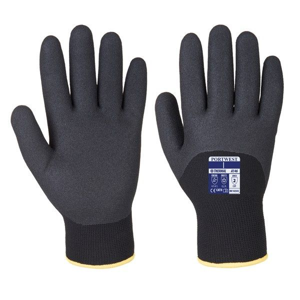 Arctic Winter Gloves Black Large