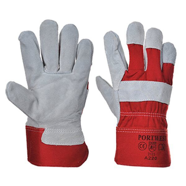 Premium Chrome Rigger Gloves Red Pack Of 12