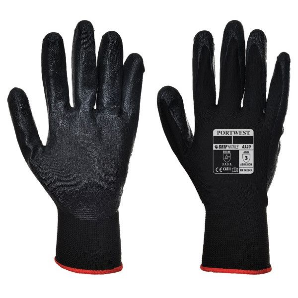 Dexti Grip Gloves Black Large Pack Of 12