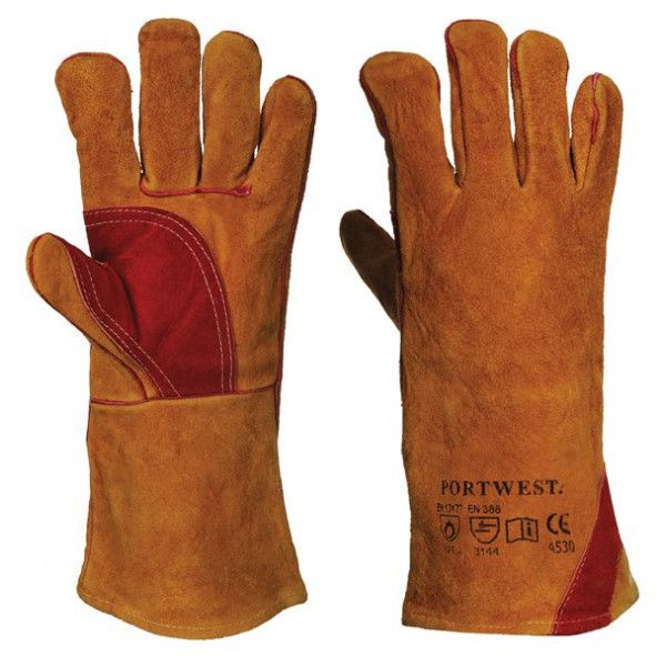Reinforced Welding Gauntlets Brown X Large