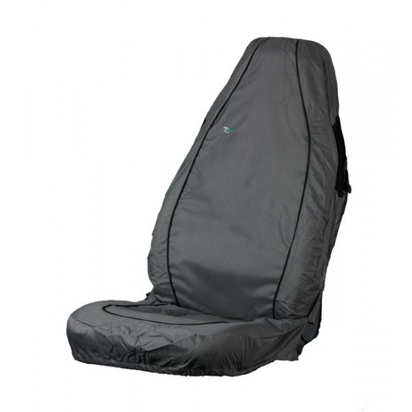 Car Seat Cover Air Bag Compatible Front Single Grey