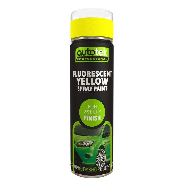 Aerosol Paint Fluorescent Yellow 500Ml