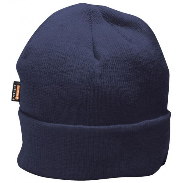 Knit Microfibre Insulated Hat Navy