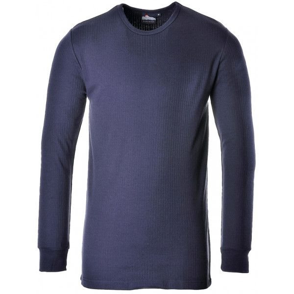 Thermal Long Sleeve Tshirt Navy Large