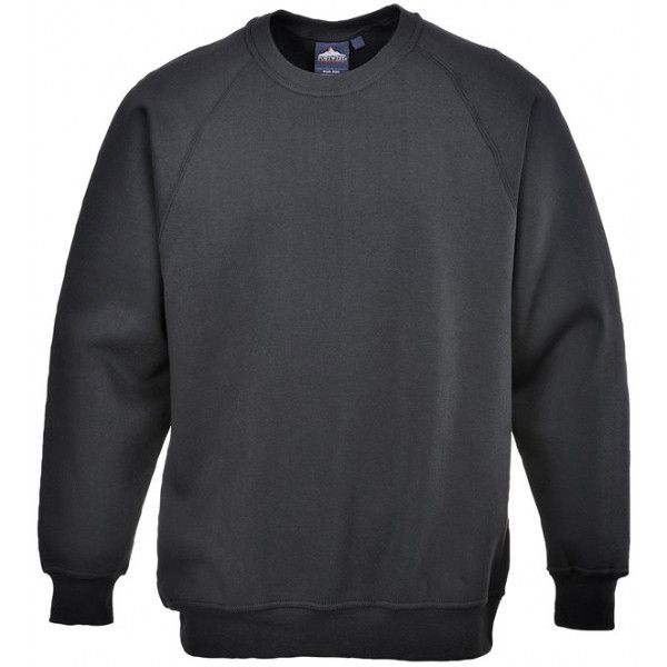 Polycotton Sweatshirt Black Large
