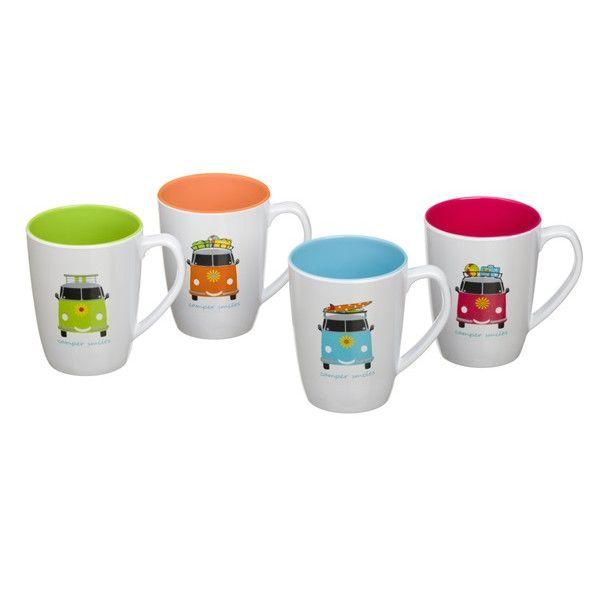 Camper Smiles Mug Set Pack Of 4
