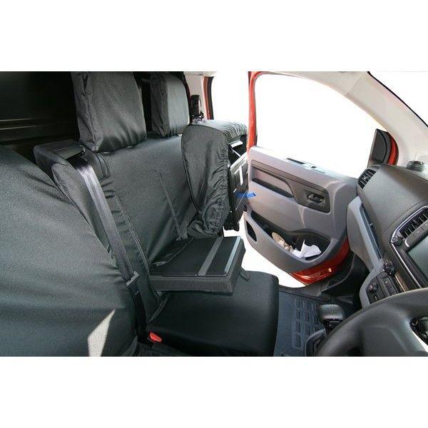 Van Seat Cover Double Black Citroen Dispatch Peugeot Expert Toyota Proace 2016
