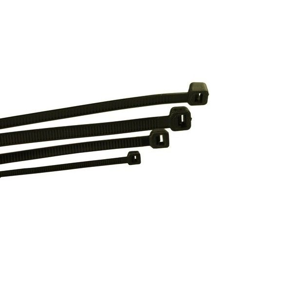 Cable Ties Standard Black 200Mm X 4.8Mm Pack Of 100