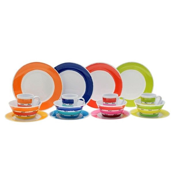 Colours Melamine Dining Set