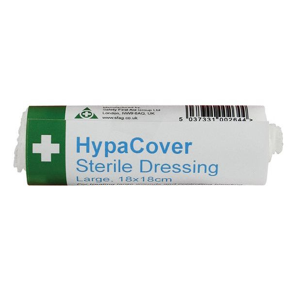 Hypacover Large Sterile Dressings 18 X 18Cm Pack Of 6