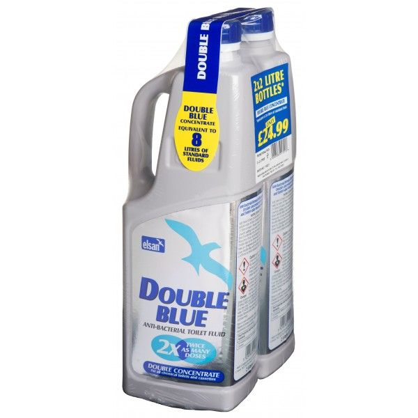 Double Blue Toilet Fluid Twinpack 2 Litre