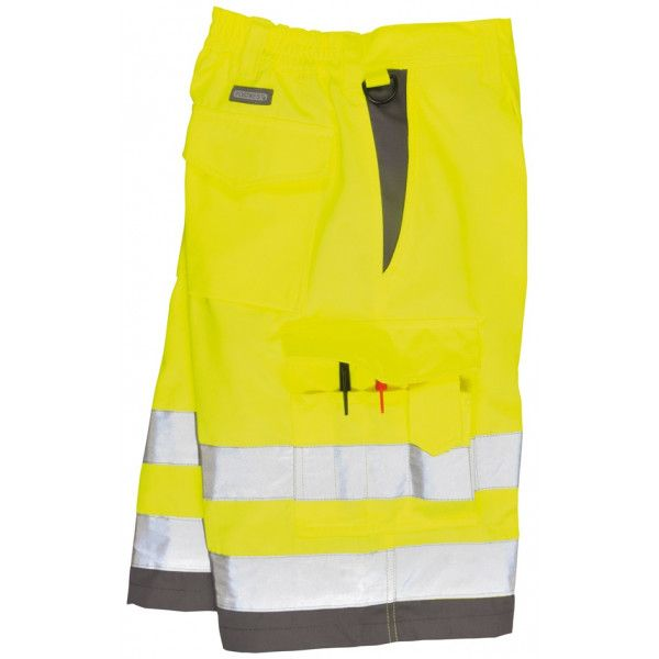 Hivis Polycotton Shorts Yellowgrey Medium