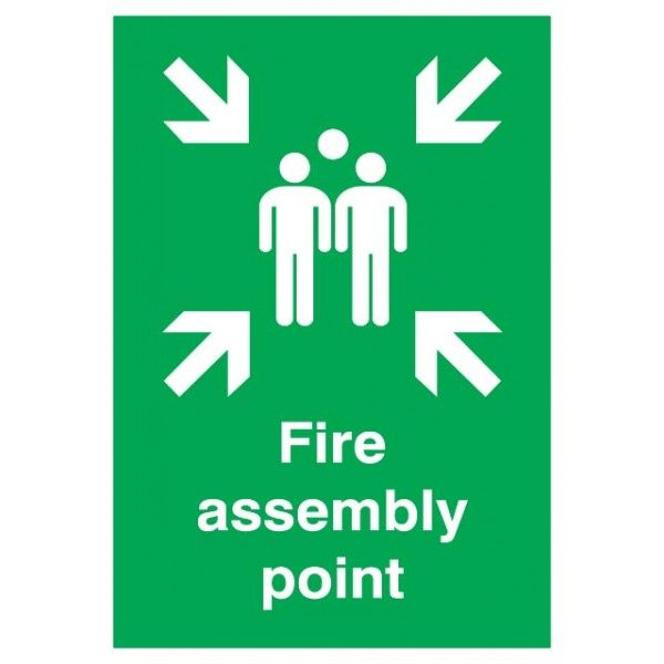 Fire Assembly Point Sign Rigid Polypropylene 297Mm X 210Mm