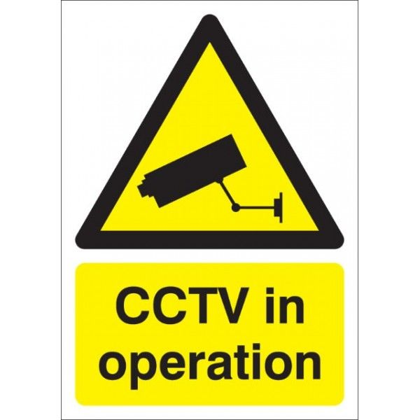 Cctv In Operation Sign Rigid Polypropylene 210Mm X 148Mm