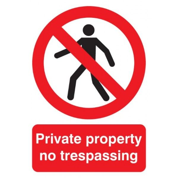 Private Property Sign Rigid Polypropylene 210Mm X 148Mm
