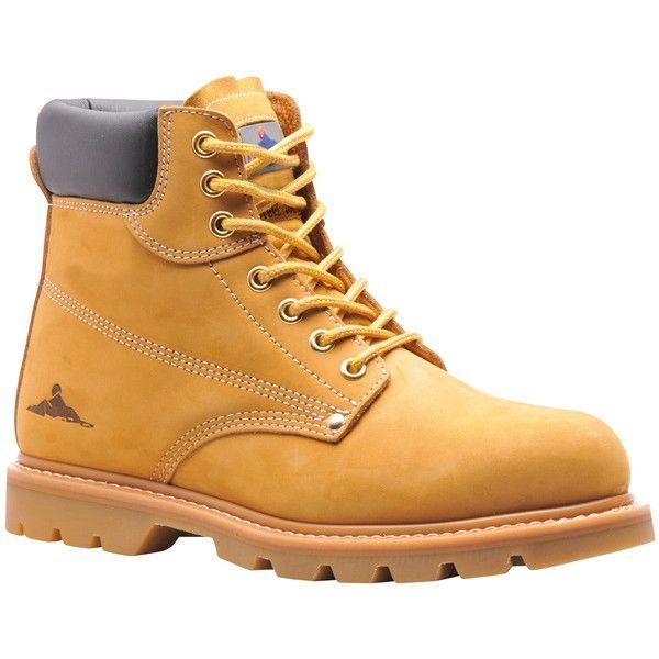 Welted Safety Boots Sb Honey Uk 8