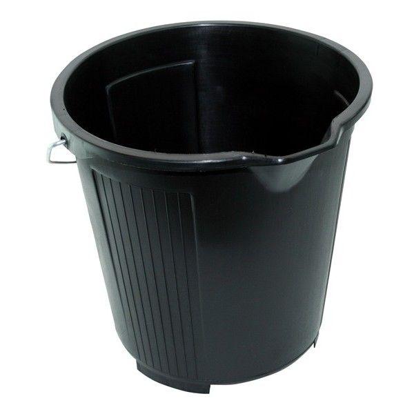 Plastic Bucket Black 10 Litre