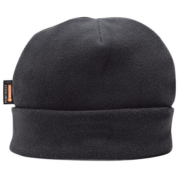 Thinsulate Lined Fleece Hat Black