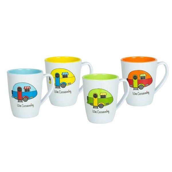 Love Caravanning Mug Set Pack Of 4