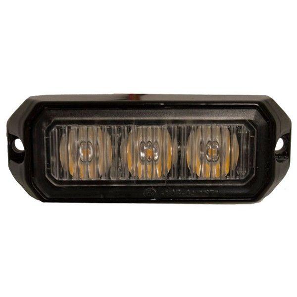 Amber Led Strobe Lamp 3 X 3W 1224V