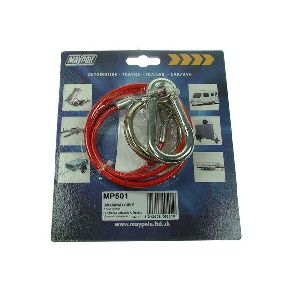 Breakaway Cable Plastic Coated Red