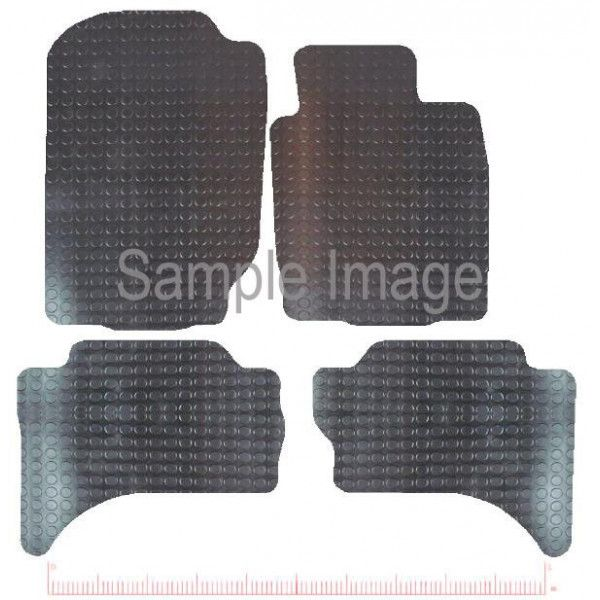 Rubber Tailored Car Mat Mitsubishi L200 Double Cab 2015 Onwards Pattern 3661