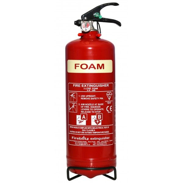 Afff Foam Fire Extinguisher With Gauge 2 Litre