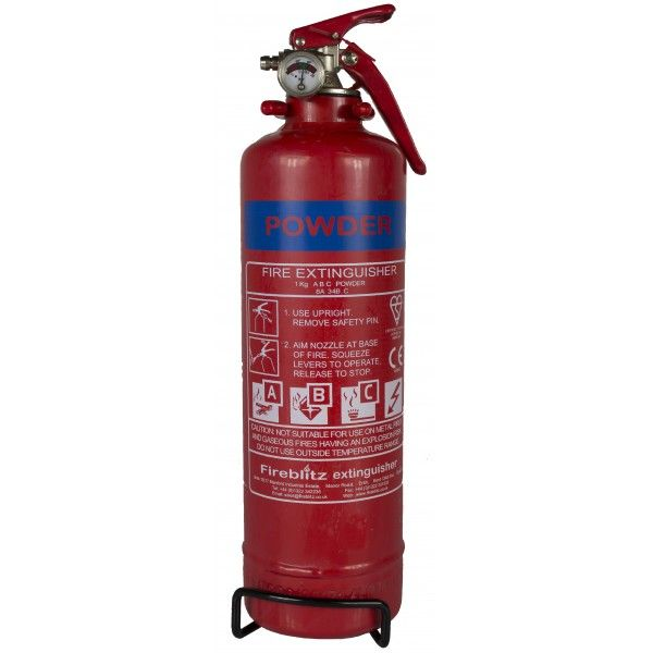 Abc Dry Powder Fire Extinguisher With Gauge 1Kg