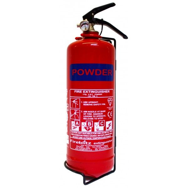 Abc Dry Powder Fire Extinguisher With Gauge 2Kg