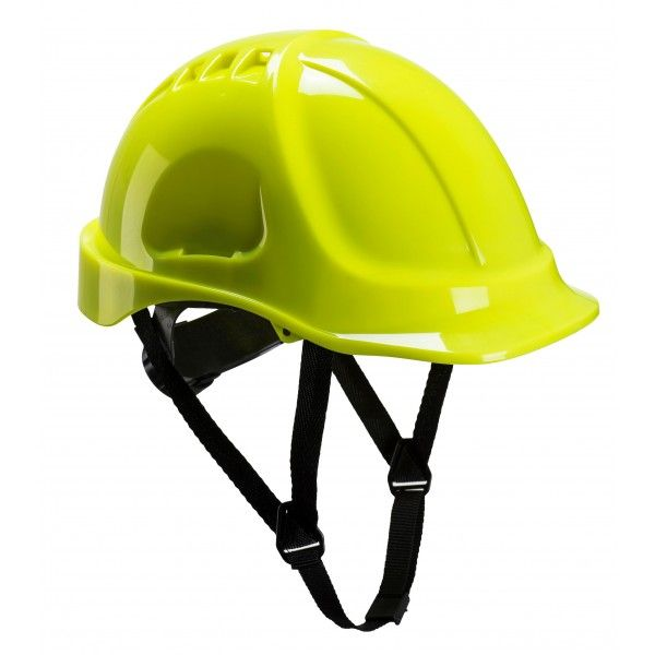 Endurance Vented Safety Helmet Yellow