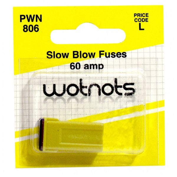 Fuse J Type Slow Blow Yellow 60A