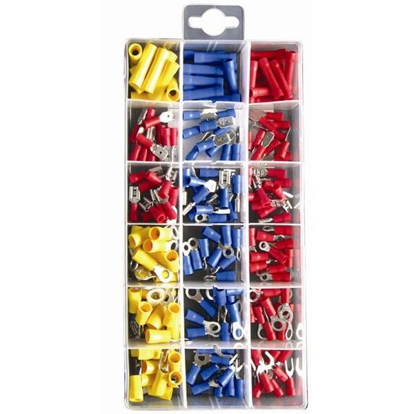 Wiring Connectors Crimp Type Assorted Pack Of 180