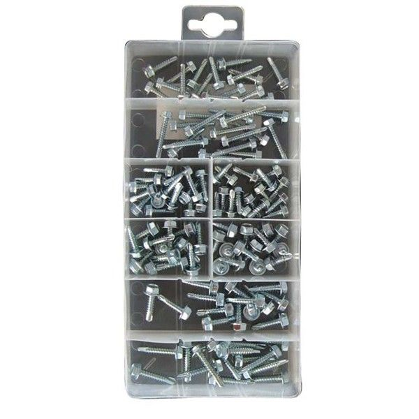 Self Drilling Screw Hex Head Assorted Pack Of 120