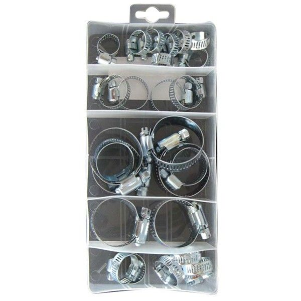 Assorted Ms Hose Clips Box Of 26