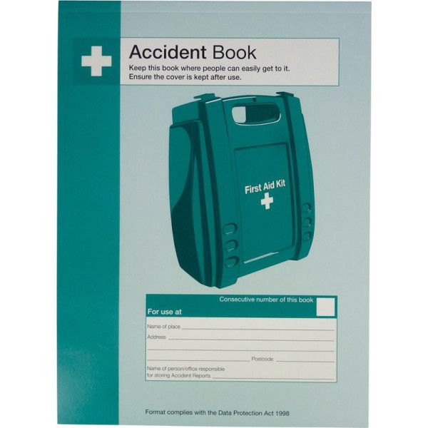 First Aid Accident Book A4