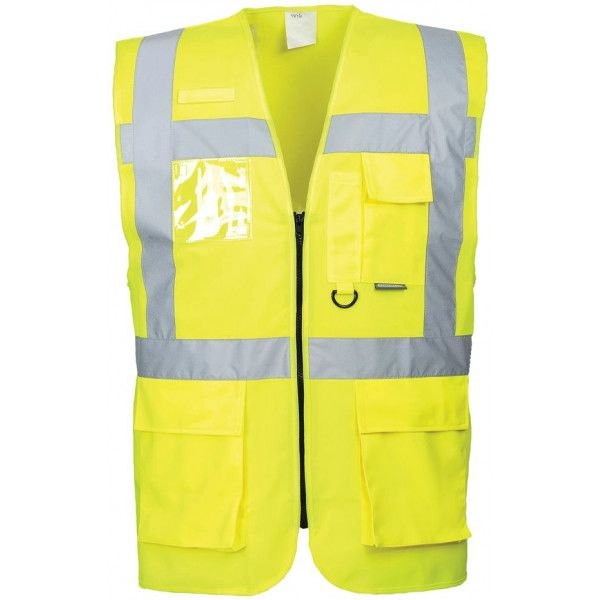 Berlin Executive Hivis Vest Yellow Extra Large