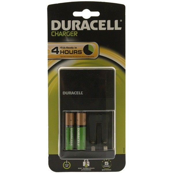 Plugin Battery Charger With 2X Aa Batteries