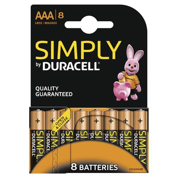 Duracell Simply Aaa Batteries Pack Of 8
