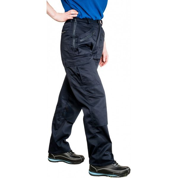 Ladies Action Trousers Navy Small